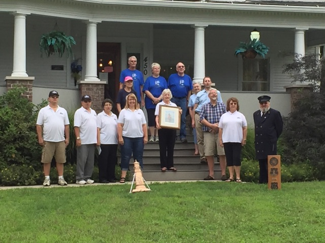 Members of the Crisp Point Light Historical Society and of the Vassar Historical Society joined forces on August 27, 2016 to honor Jacob H. Gibb's many years of service in the USLSS & USLHS. This picture was taken at the Vassar Historical Society Museum, where visitors can learn about the Vassar area history and also see a display about Jacob H. Gibb. To find out more about the VHS & Museum you can check out their web site at http://www.VassarHistory.org/ or check out their Facebook page at https://www.facebook.com/Vassar-Historical-Society-Museum-124170564308692/.